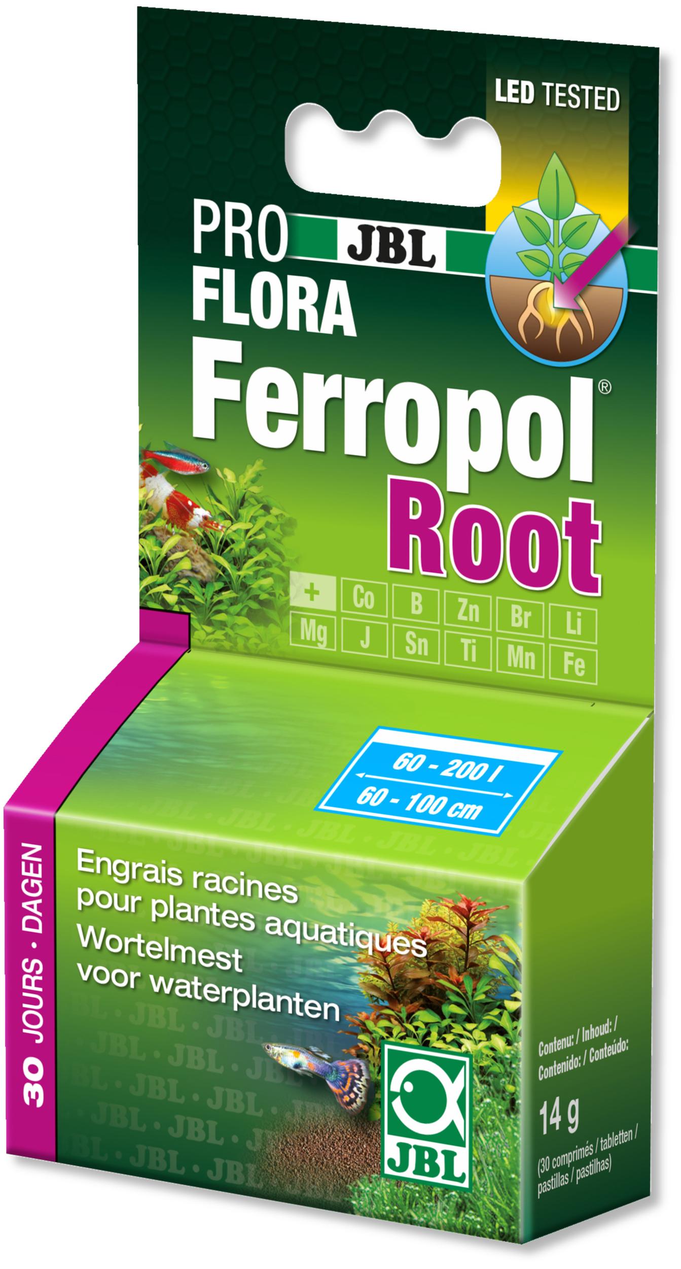 JBL Ferropol Root 30 comprimés d\'engrais complet pour plantes d\'aquarium