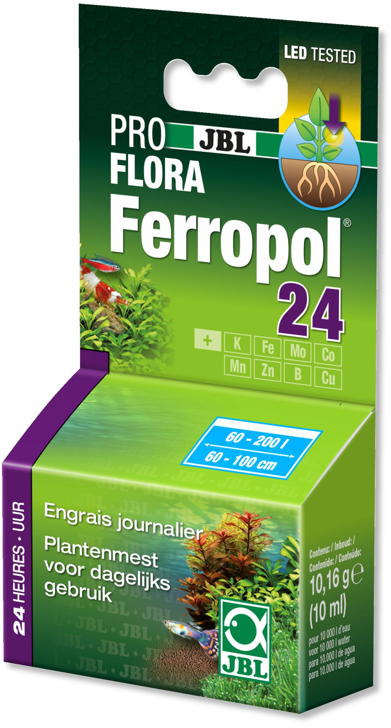 JBL Ferropol 24 10 ml engrais journalier pour plantes d\'aquarium