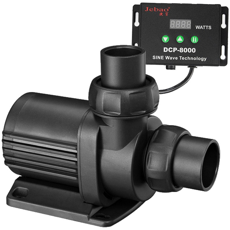 JEBAO JECOD DCP-8000 pompe universelle avec contrôleur pour débit réglable jusqu\'à 8000 L/h