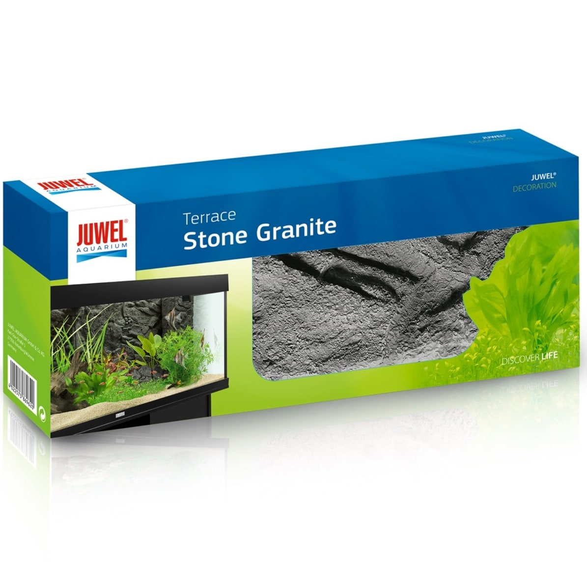 JUWEL Terasse Stone Granite 35 x 15 cm module incurvé vers l\'extérieur pour la conception de terrasses en aquarium