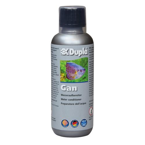 DUPLA Gan 250 ml conditionne l\'eau du robinet en supprimant le Chlore et métaux lourds