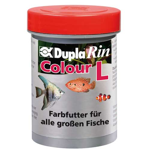 DUPLA Rin Colour L 180 ml nourriture en gros granulés favorisant l\'éclat des couleurs chez les poissons d\'eau douce et d\'eau de mer