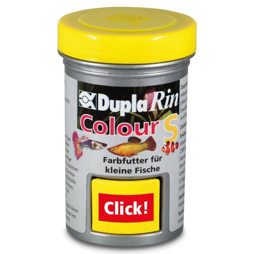 DUPLA Rin Colour S 65 ml nourriture en petit granulés favorisant l\'éclat des couleurs chez les poissons d\'eau douce et d\'eau de mer