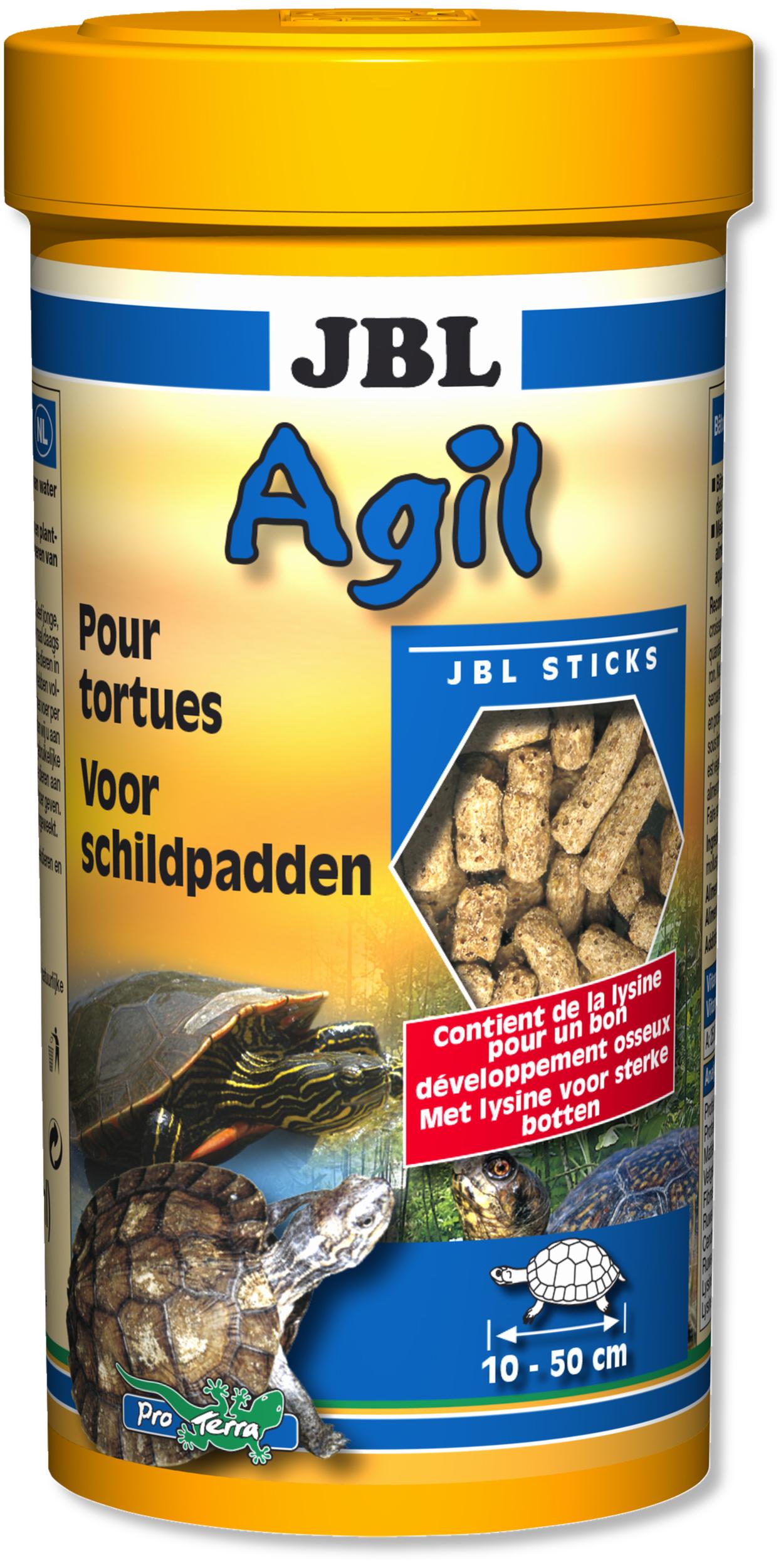 JBL Agil 250 ml nourriture principale en bâtonnets pour tortues d\'eau de 10 à 50 cm