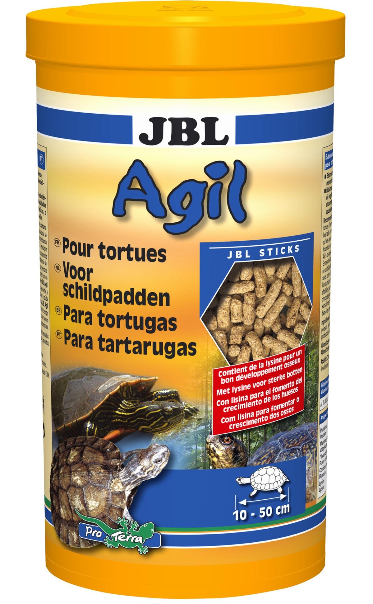 JBL Agil 1 L nourriture principale en bâtonnets pour tortues d\'eau de 10 à 50 cm