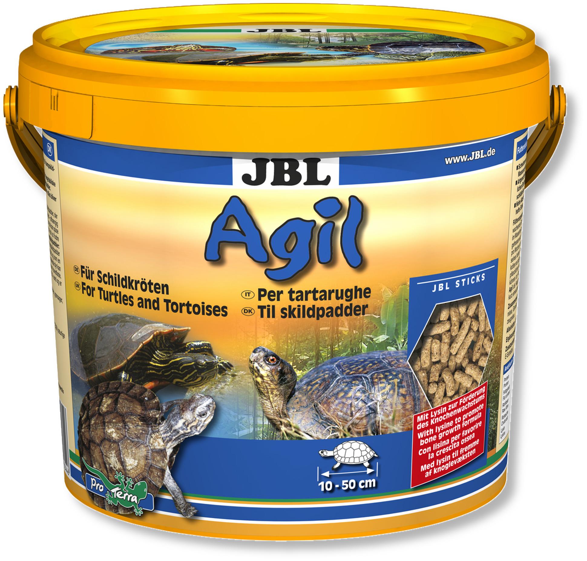 JBL Agil 2,5 L nourriture principale en bâtonnets pour tortues d\'eau de 10 à 50 cm