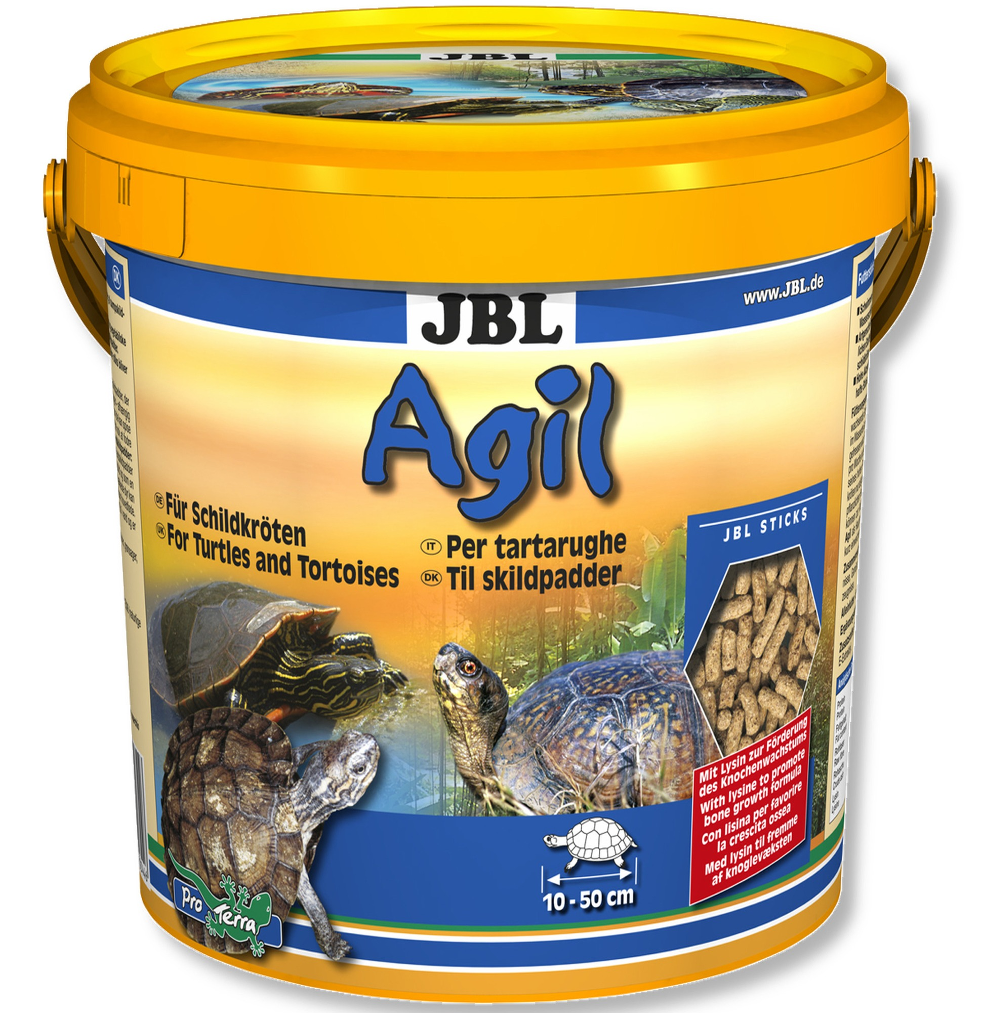 JBL Agil 10,5 L nourriture principale en bâtonnets pour tortues d\'eau de 10 à 50 cm