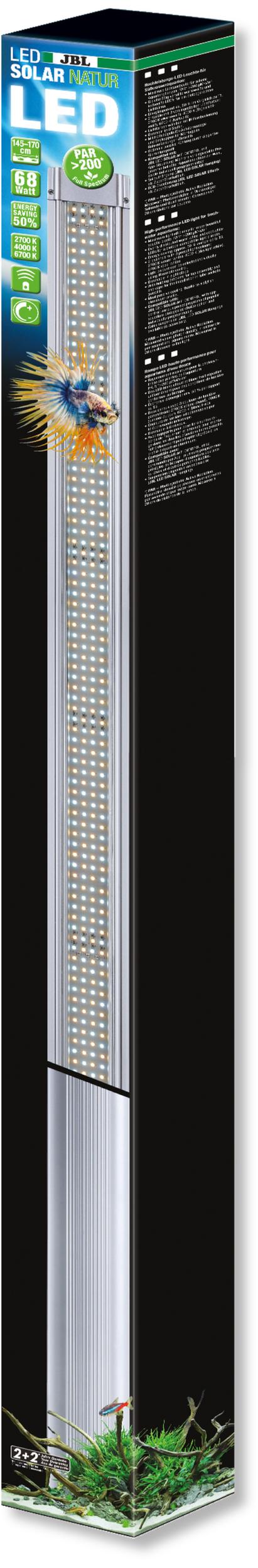 JBL LED Solar Natur 68W rampe aquarium Eau douce de 145 à 170 cm ou remplace tube T5 et T8