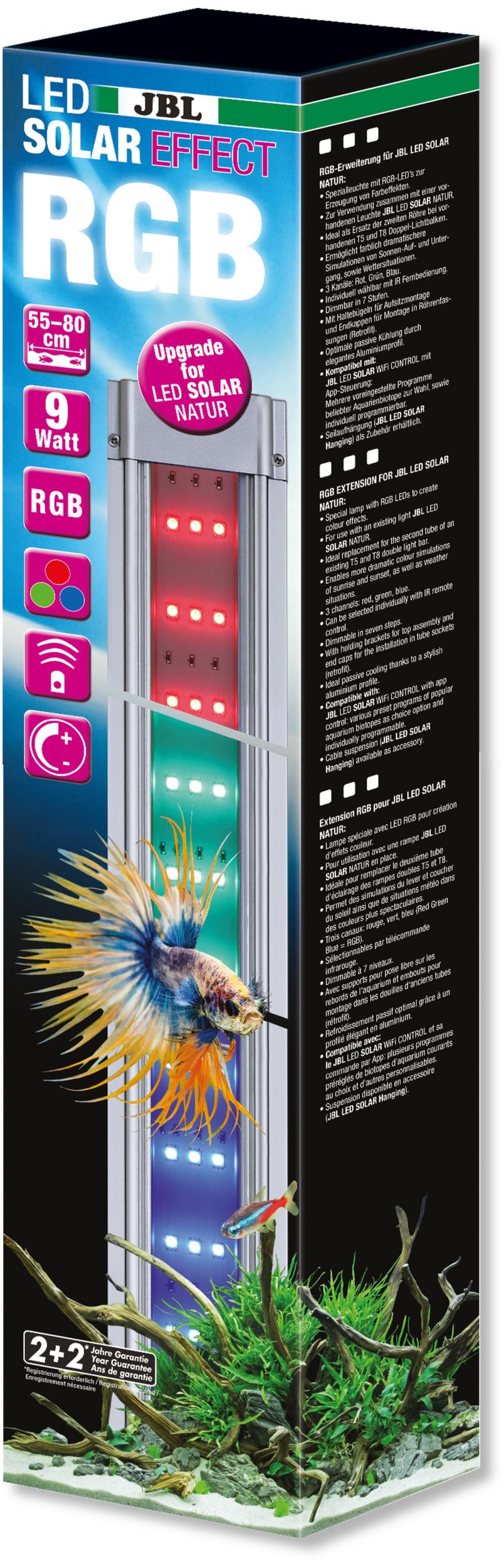 JBL LED Solar Effect 9W rampe complémentaire aquarium Eau douce de 55 à 80 cm ou remplace tube T5 et T8