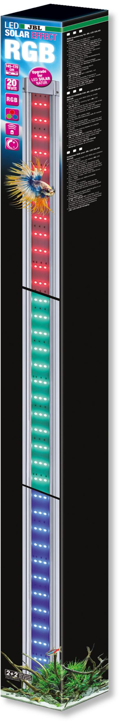 JBL LED Solar Effect 20W rampe complémentaire aquarium Eau douce de 145 à 170 cm ou remplace tube T5 et T8