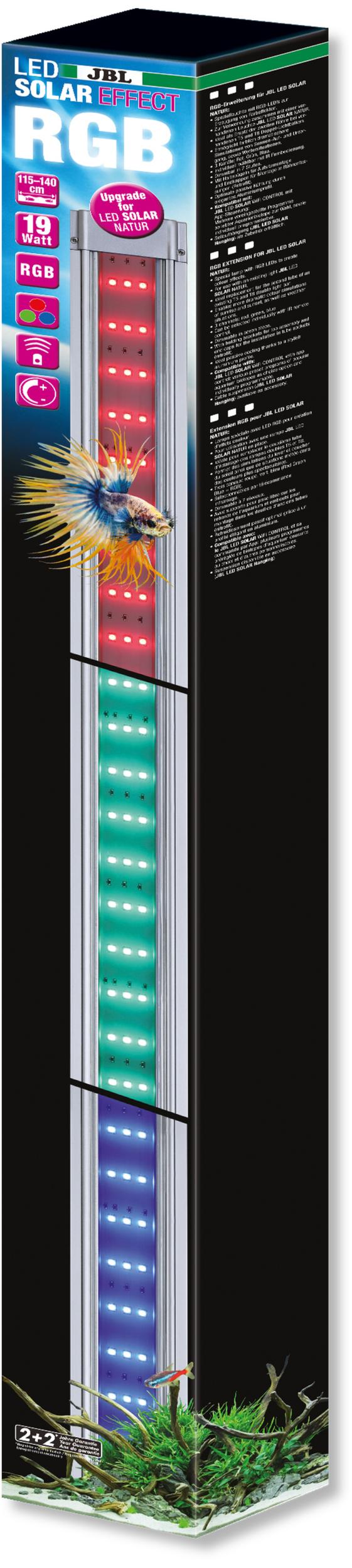 JBL LED Solar Effect 19W rampe complémentaire aquarium Eau douce de 115 à 140 cm ou remplace tube T5 et T8