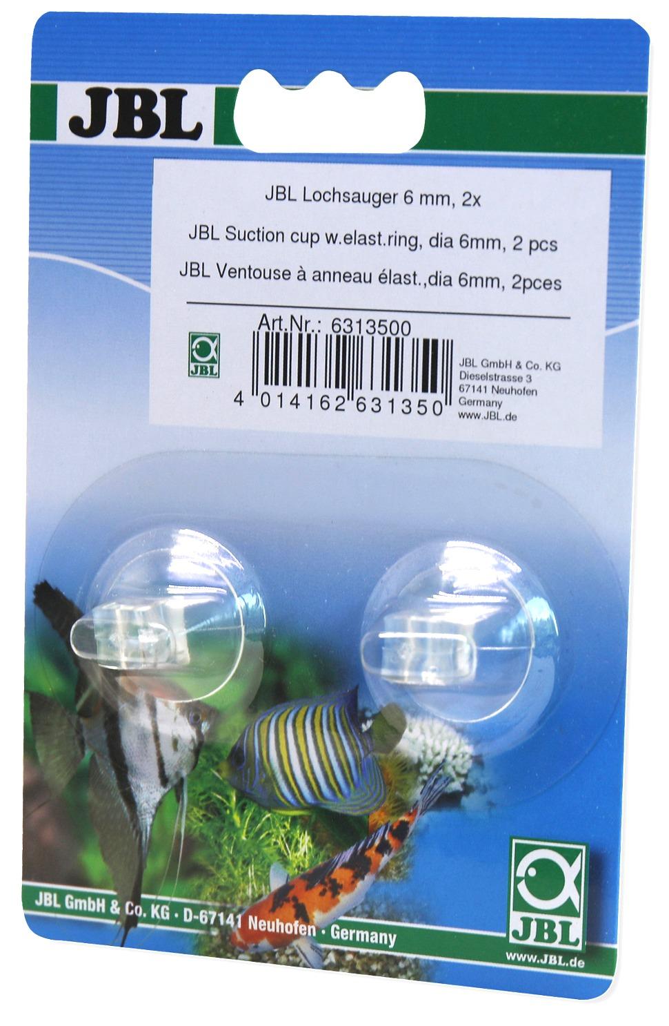 Lot de 2 ventouses JBL à anneau élastique 6 mm pour objet de 6 à 7 mm de diamètre