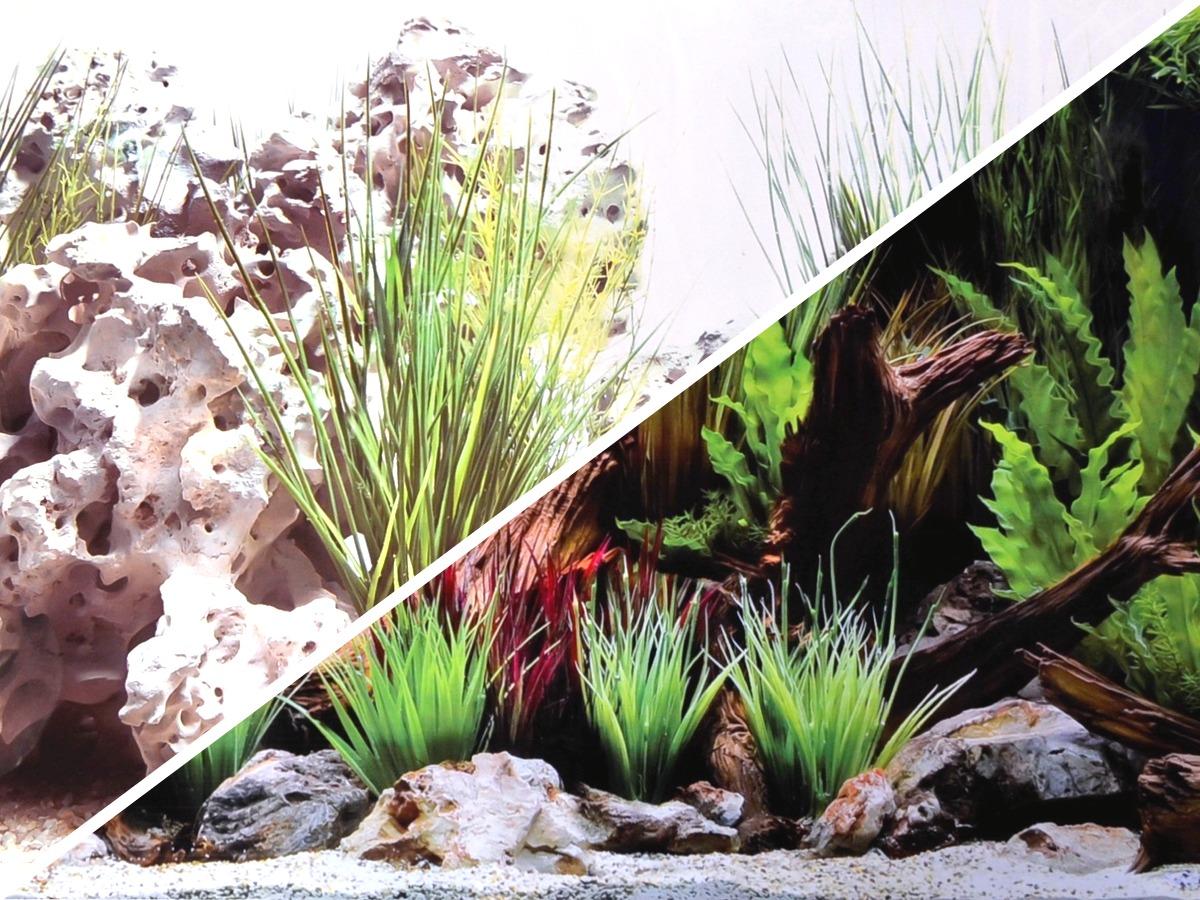 Poster de fond pour aquarium AMTRA Wonder imprimé sur deux faces - Longueur à la coupe - Hauteur 45 ou 60 cm