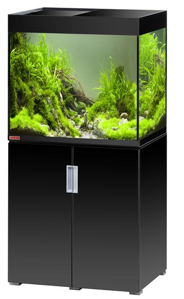 EHEIM Incpiria 200 Noir Brillant kit aquarium 70 cm 200 L avec meuble et éclairage T5