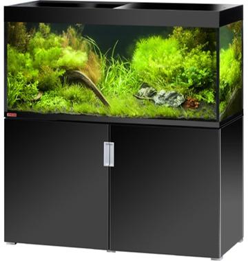 EHEIM Incpiria 400 Noir Brillant kit aquarium 130 cm 400 L avec meuble et éclairage T5