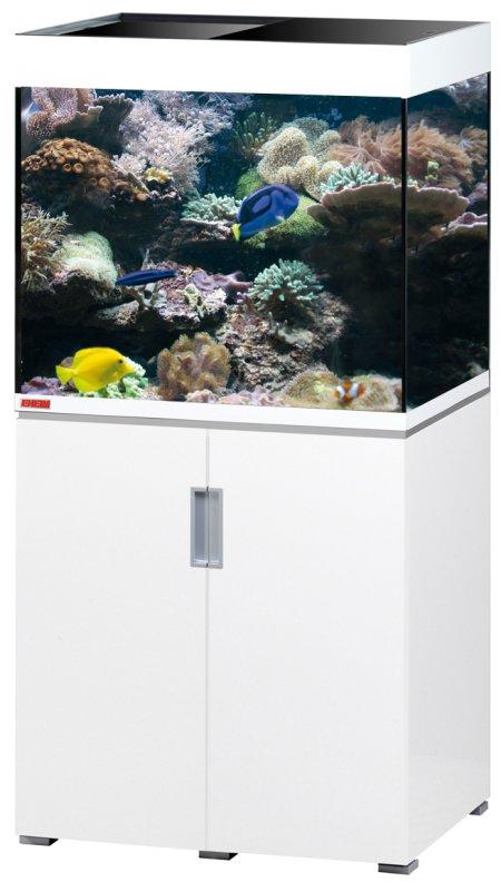 EHEIM Incpiria Marine 200 Blanc Brillant kit aquarium 70 cm 200 L avec meuble et éclairage T5