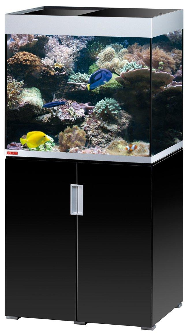 EHEIM Incpiria Marine 200 Noir Brillant / Argent kit aquarium 70 cm 200 L avec meuble et éclairage T5
