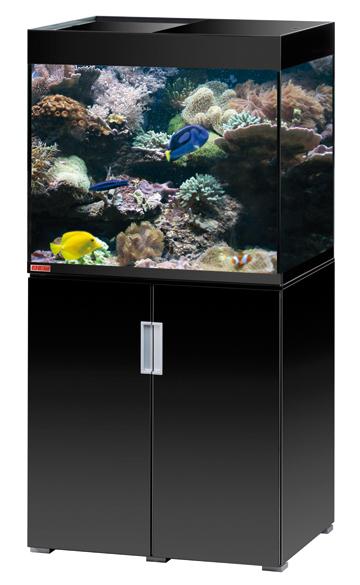 EHEIM Incpiria Marine 200 Noir Brillant kit aquarium 70 cm 200 L avec meuble et éclairage T5