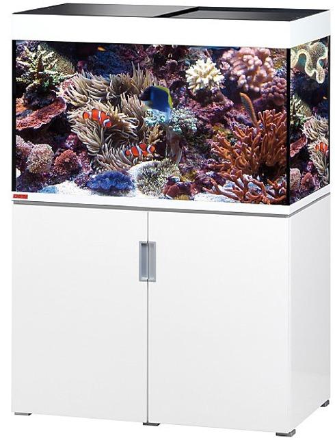 EHEIM Incpiria Marine 300 Blanc Brillant kit aquarium 100 cm 300 L avec meuble et éclairage T5