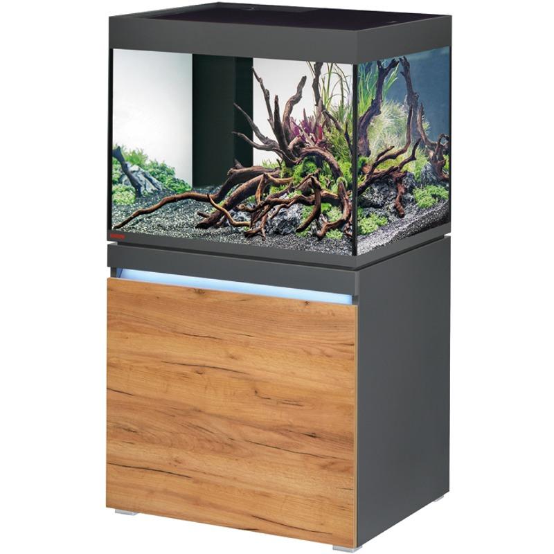 EHEIM Incpiria 230 LED Graphite / Nature kit aquarium 70 cm 230 L avec meuble et éclairage LEDs