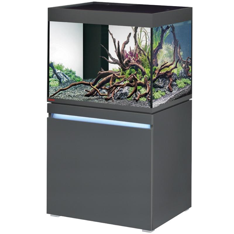 EHEIM Incpiria 230 LED Graphite kit aquarium 70 cm 230 L avec meuble et éclairage LEDs