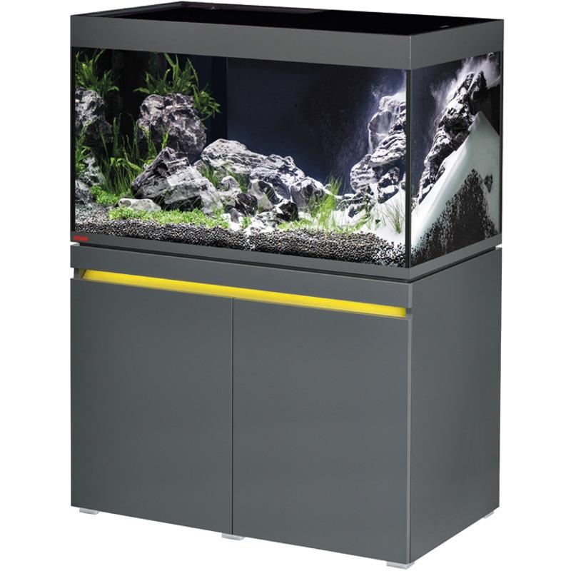 EHEIM Incpiria 330 LED Graphite kit aquarium 100 cm 330 L avec meuble et éclairage LEDs