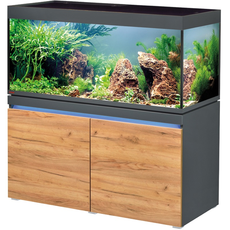 EHEIM Incpiria 430 LED Graphite / Nature kit aquarium 130 cm 430 L avec meuble et éclairage LEDs