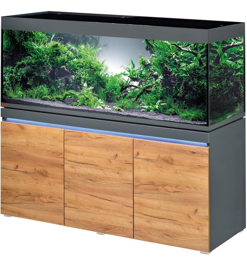 EHEIM Incpiria 530 LED Graphite / Nature kit aquarium 160 cm 530 L avec meuble et éclairage LEDs