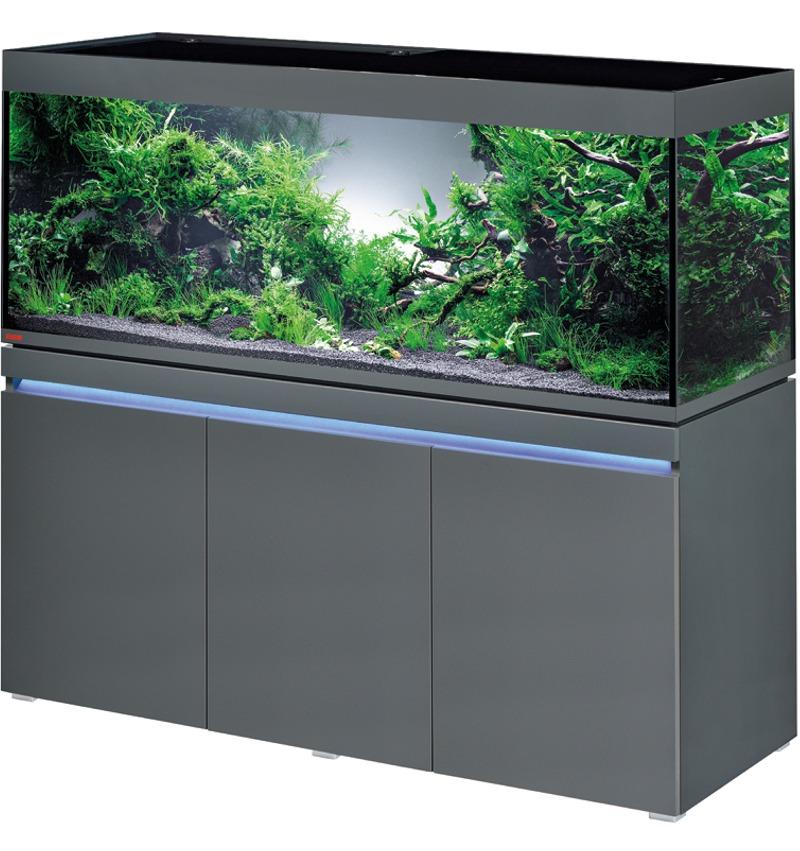 EHEIM Incpiria 530 LED Graphite kit aquarium 160 cm 530 L avec meuble et éclairage LEDs