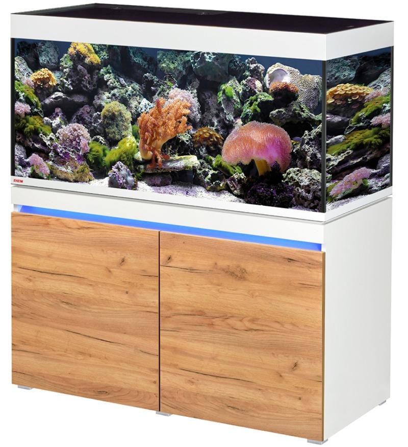 EHEIM Incpiria Marine 430 LED Alpin / Nature kit aquarium 130 cm 430 L avec meuble et éclairage LEDs
