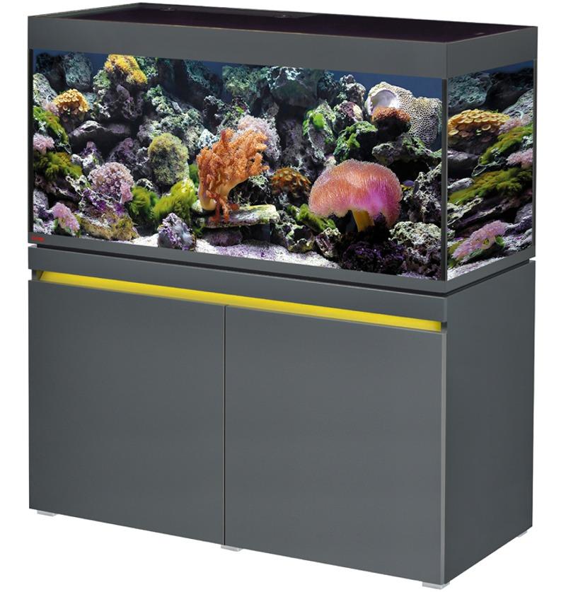 EHEIM Incpiria Marine 430 LED Graphite kit aquarium 130 cm 430 L avec meuble et éclairage LEDs