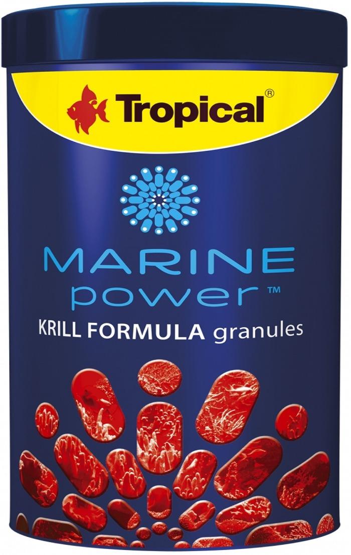 TROPICAL Marine Power Krill Formula 1000 ml nourriture en granulés pour poissons marins