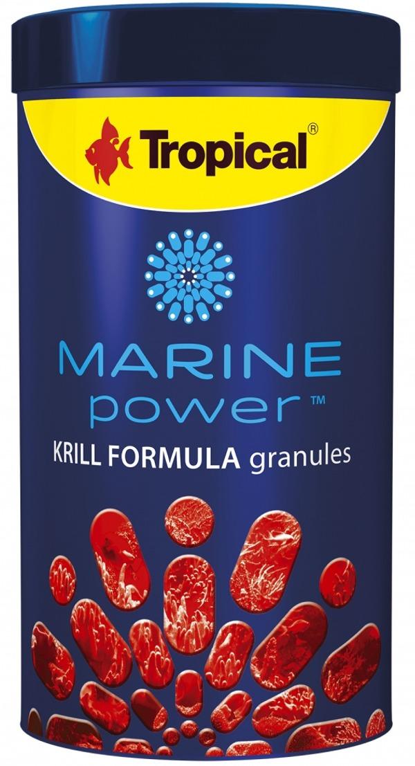 TROPICAL Marine Power Krill Formula 250 ml nourriture en granulés pour poissons marins