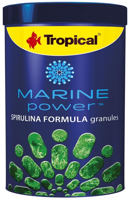 TROPICAL Marine Power Spirulina Formula 1000 ml nourriture en granulés pour poissons marins
