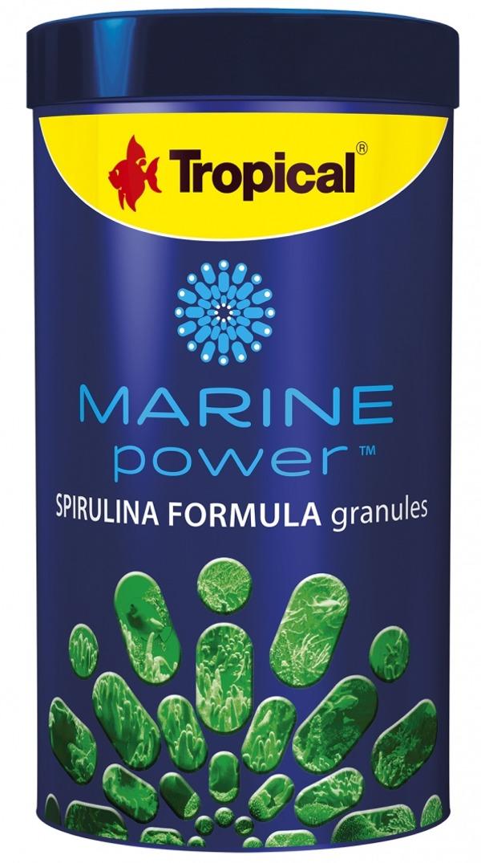 TROPICAL Marine Power Spirulina Formula 250 ml nourriture en granulés pour poissons marins