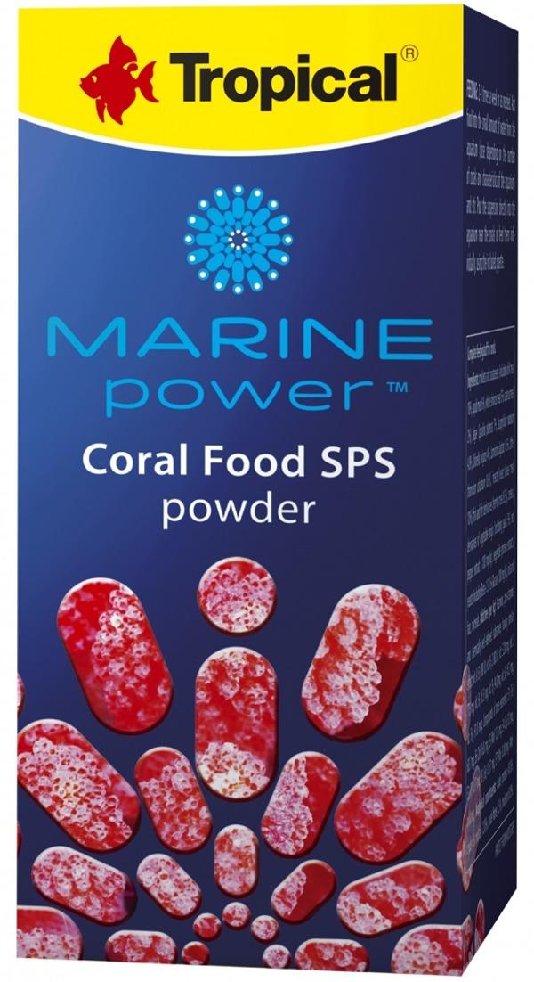 TROPICAL Marine Power Coral Food SPS 100 ml nourriture en poudre pour coraux durs à petits polypes