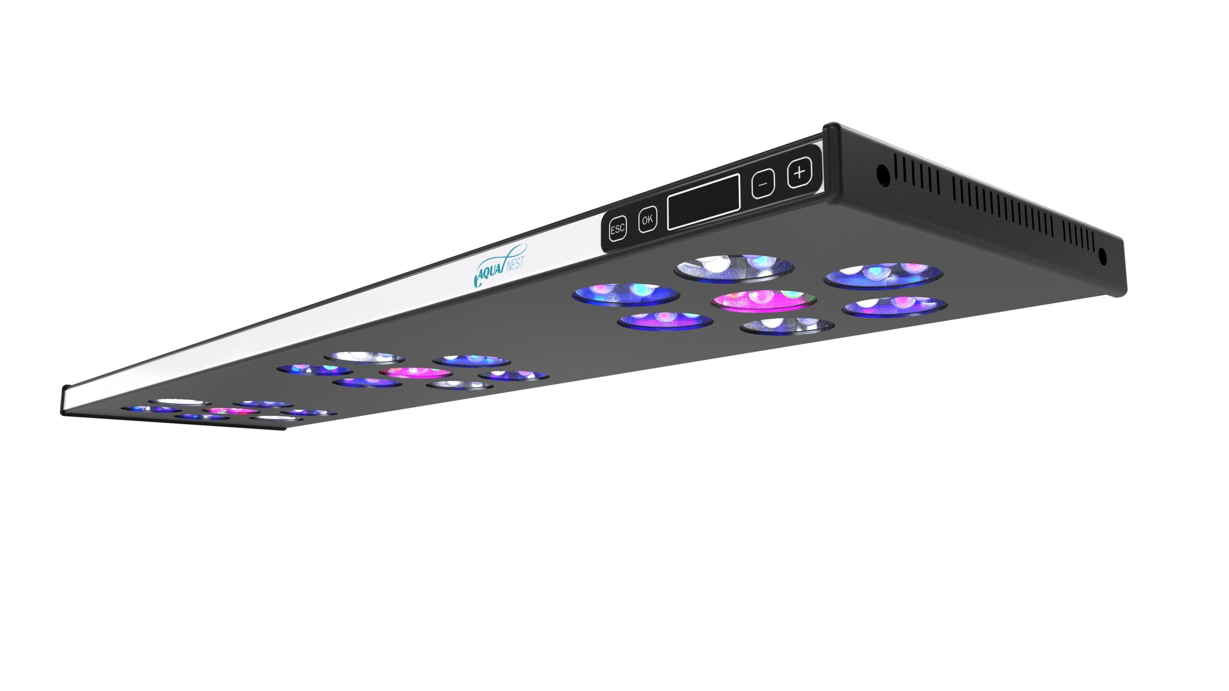 ASAQUA Max 90 V2 rampe à LEDs haute puissance pour aquariums d'eau douce et d'eau de mer