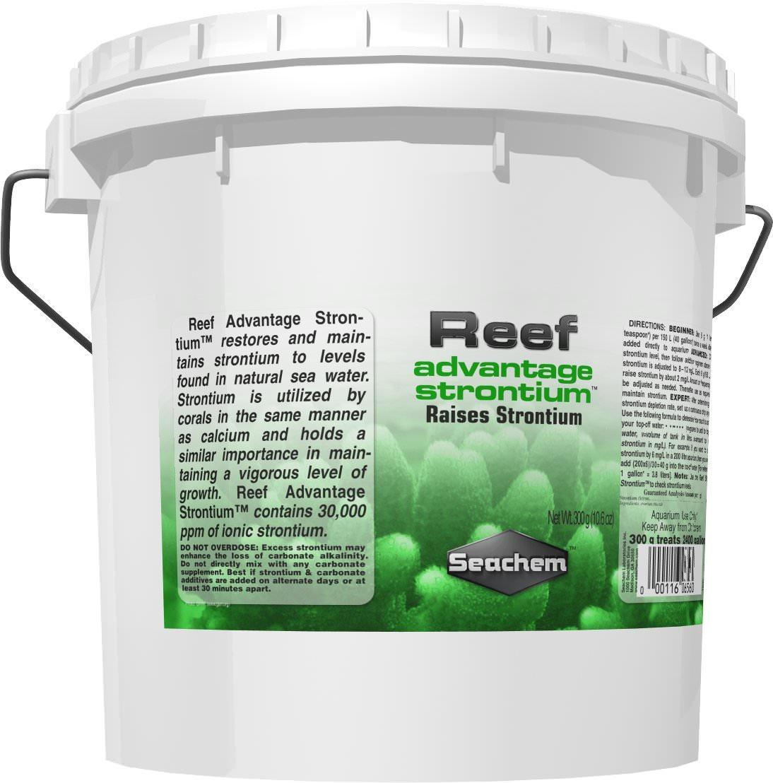 SEACHEM Reef Advantage Strontium 4 kg restaure / maintien le Strontium à un niveau proche de l\'eau de mer naturelle