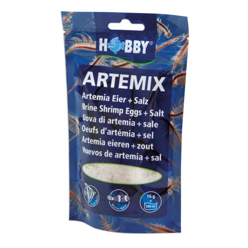 HOBBY Artemix mélange d\'oeufs d\'artemias et de sel pour une préparation rapide