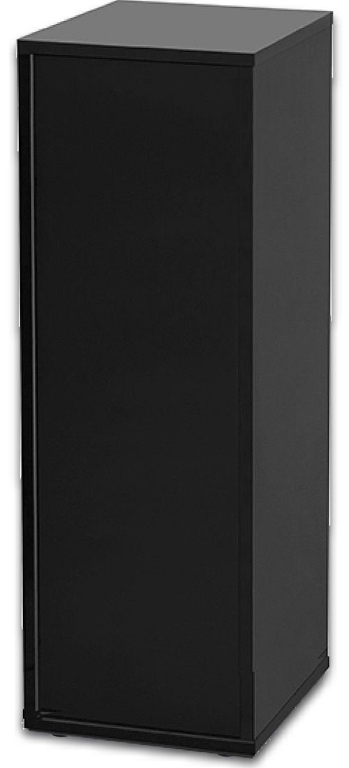 AQUATLANTIS Meuble Nano Cubic 40 Noir avec porte pour aquarium jusqu\'à 32 x 35 cm