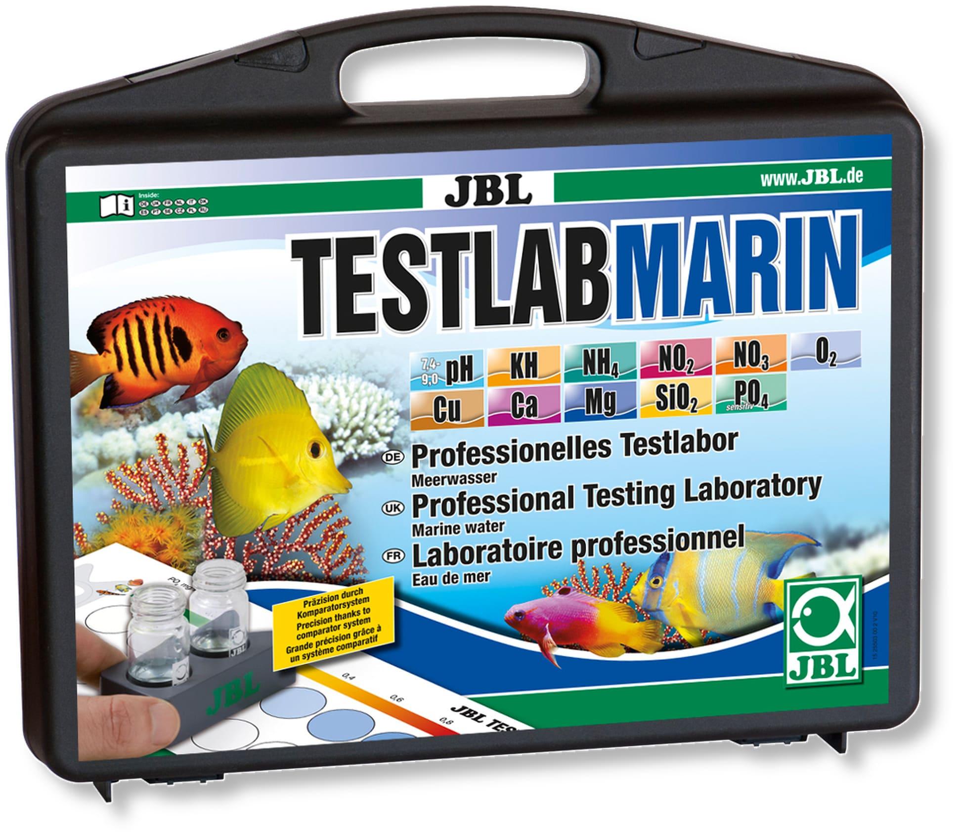 JBL TestLab Marin coffret de test professionnel pour les analyses d\'eau de mer