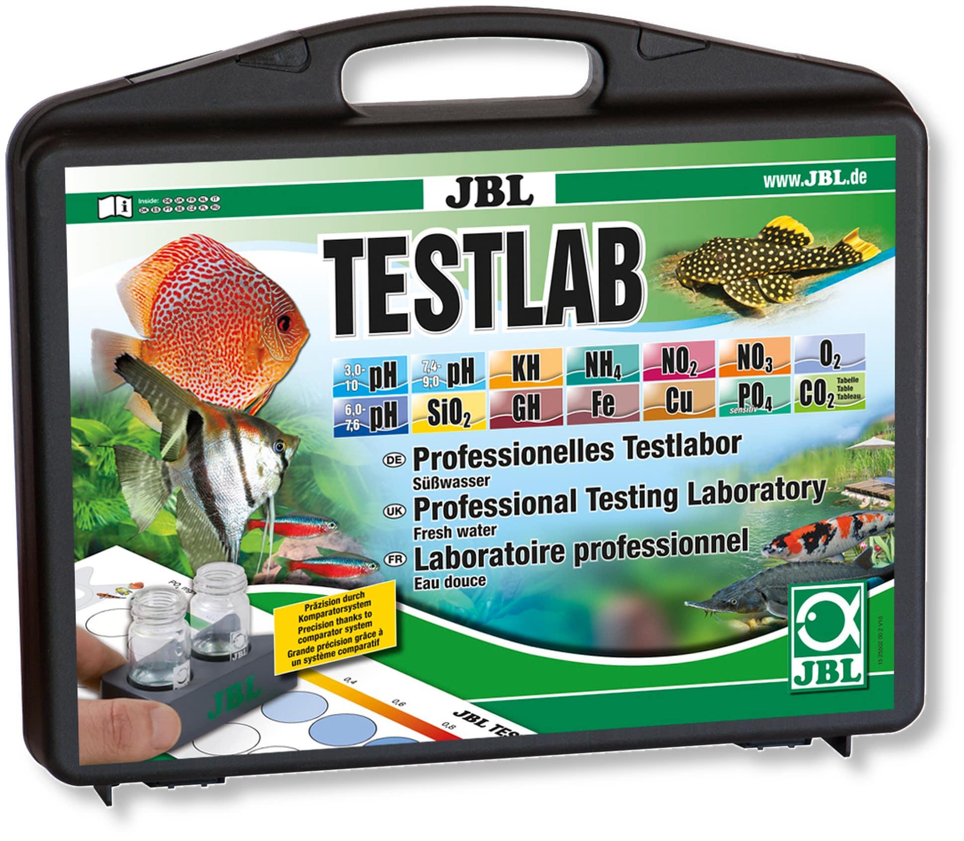 JBL TestLab coffret de tests professionnels pour les analyses en aquarium d\'eau douce