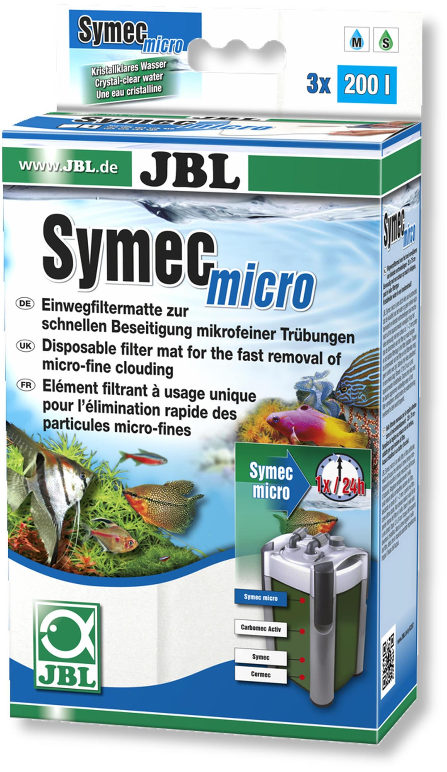 JBL Symec Micro voile filtrant non-tissé en microfibres pour lutter contre l\'eau trouble