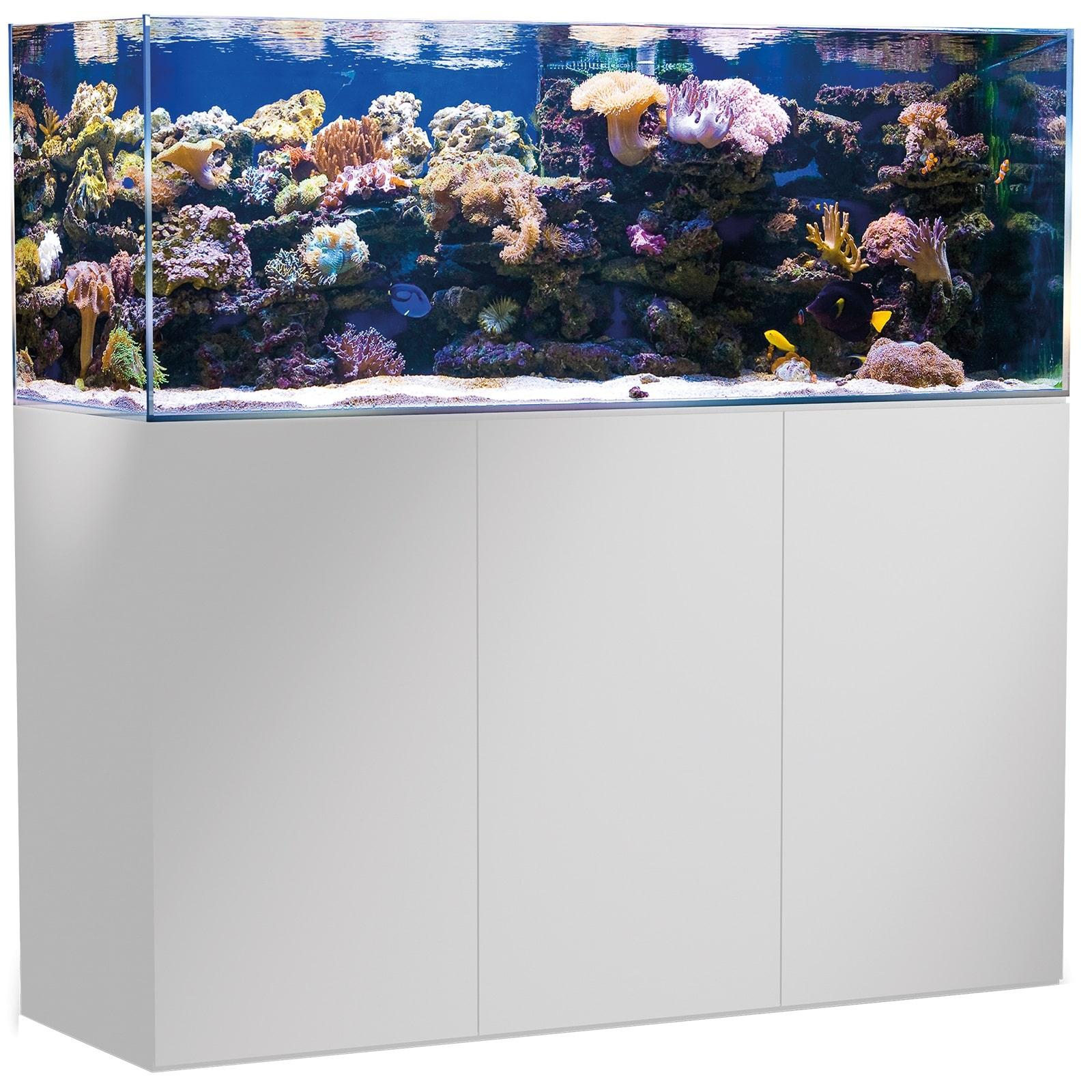 AQUA MEDIC Armatus 450 Blanc kit aquarium eau de mer 375 L avec meuble et décantation