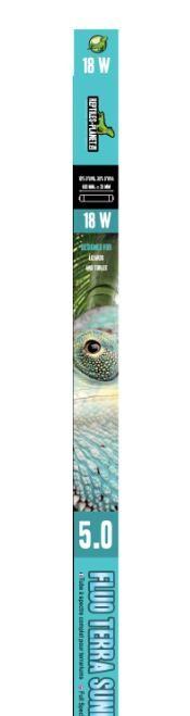 REPTILES PLANET Terra Sunlight 5.0 tube néon T8 18W 60 cm avec 5% d\'UV-B et UV-A pour tortues et lézards