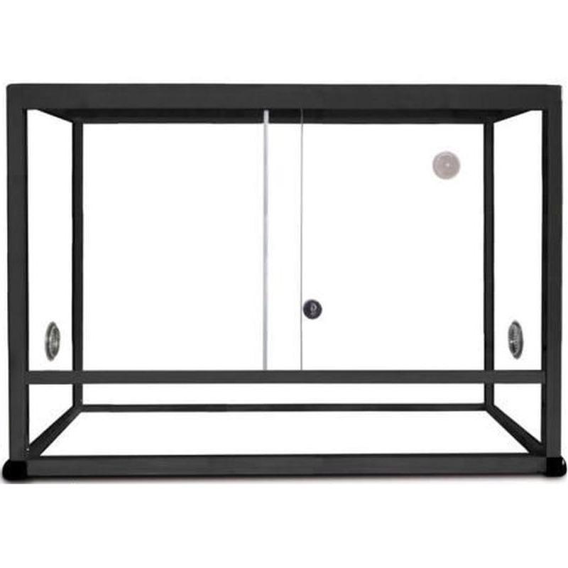REPTILES PLANET Terrarium Aluminium Elégance 80 x 45 x 45 cm Noir