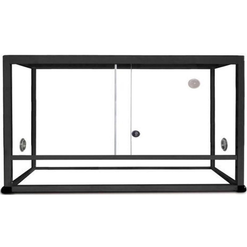 REPTILES PLANET Terrarium Aluminium Elégance 120 x 50 x 50 cm Noir