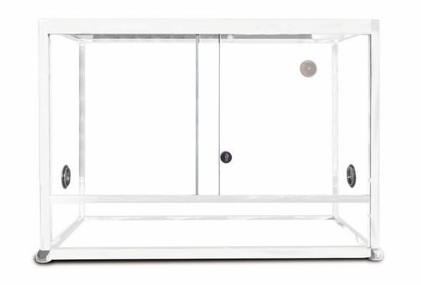 REPTILES PLANET Terrarium Aluminium Elégance 80 x 45 x 45 cm Blanc