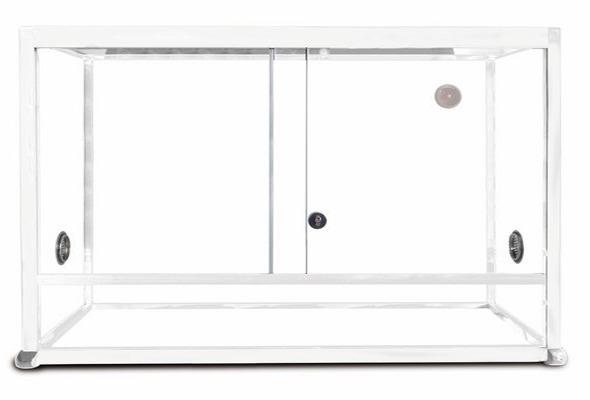 REPTILES PLANET Terrarium Aluminium Elégance 100 x 45 x 50 cm Blanc