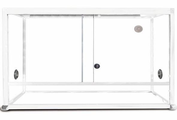 REPTILES PLANET Terrarium Aluminium Elégance 120 x 50 x 50 cm Blanc